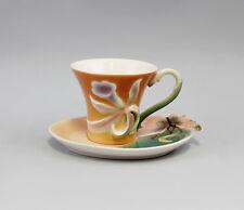 9952030 Porzellan Tasse mit Untertasse Narzisse Dekor Jameson&Tailor  H8cm