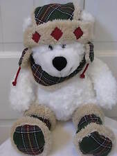 HugFun Int'l Hug Fun Ningbo Plush Bean White Bear With Hat Scarf Boots MINT Soft