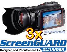 3x Clear LCD Screen Protector Canon VIXIA XF100 XA10 XA20 XA30 XA35 Camcorder