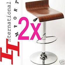 2x Tabouret de bar BOIS DUR Horeca FAUTEUIL SOFA KRUK comptoir banc chaise poker
