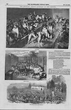 1849 original print titled : hunting season -  kennel & day yard