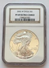 2002 W PROOF 1 $ SILVER EAGLE NGC PF 69 ULTRA CAMEO FREE SHIPPING