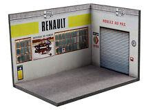 Diorama présentoir Atelier Renault ancien (3 faces) - 1/43ème - #43-3-A-Y-AE-005