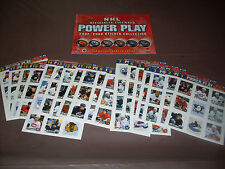 TORONTO SUN NHL POWER PLAY COMPLETE STICKER COLLECTION SET WITH ALBUM