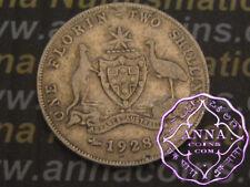 Australia 1928 George V Florin X1, Average Circulated Condition