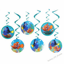 BIRTHDAY PARTY DISNEY FINDING NEMO DORY HANGING SWIRLING DECORATION 6PK SWIRL
