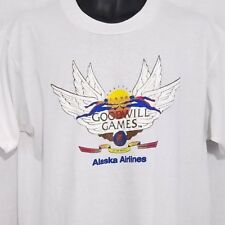 Goodwill Games Mens T Shirt Vtg 90s Seattle 1990 Alaska Airlines Made In USA XL