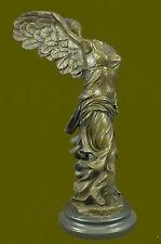 Winged Nike Samothrace Louvre Paris Bronze Marble Victory Statue Sculpture Art R