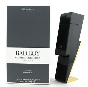 Bad Boy Cologne by Carolina Herrera 3.4 oz./100 ml. EDT Spray for Men New Tester