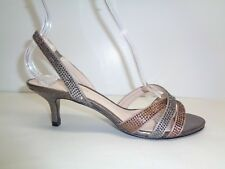 Pelle Moda Size 6 M ZARIA Rose Taupe Silk Heels Dress Sandals New Womens Shoes