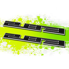 X2 Chrome Black SBC 283 4.6 Metal Bumper Trunk Grill Emblem Decal Sticker Badge