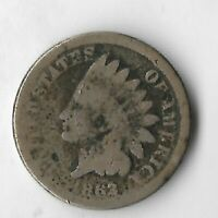 Rare Antique US 1863 Civil War Indian Head Penny Collection Cent Coin Lot:R36