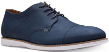 size 8 Clarks Raharto Vibe Lace Up Dress Navy Leather Oxfords Mens Shoes NEW