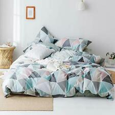 Vm Vougemarket 100 Cotton Duvet Cover Set King Hotel Quality Striped Bedding