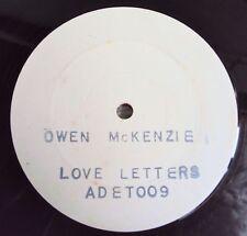 "OWEN McKENZIE - Love Letters 80's Rare REGGAE BOOGIE - White Label Promo 12"""