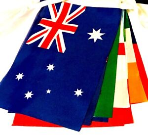 7 Metre's 14 Rugby World Cup Fabric Party Bunting FIJI SAMOA TONGA