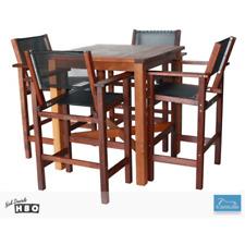 NEW Hardwood Timber Bar Setting Outdoor 5 - 7 Seater