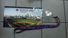 2014 Chicago Cubs Full Season Ticket Book Booklet With Ticket Holder Lanyard