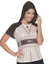 Star Wars Womens Jedi Knight Adult Rhinestone Costume Top Shirt-L