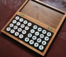 """XIANGQI (CHINESE CHESS) 2.7 cm PIECES, 14"""" FRAMED FOLDING TRAVEL BOARD (891)"""