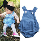 Cute Newborn Infant Baby Girls Denim Layered Romper Jumpsuit Outfits Summer 0-2T