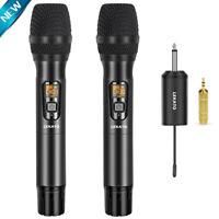 LEKATO VHF Wireless HandHeld Microphone Mic Receiver System For Karaoke DJ Party