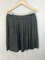 Eileen Fisher Women Gray Heather Organic Cotton/Virgin Wool Knit Skirt Sz M