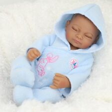 Full Body Vinyl Silicone Reborn Baby Doll Black Newborn Boy Anatomically Xmas
