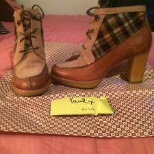 """Chaussures femme originales """"Paul Smith"""" cuir/nubuck et tissu clan T.37 TBE"""