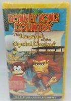 NEW Donkey Kong Country Legend of the Crystal Coconut VHS Nintendo SPANISH VER.