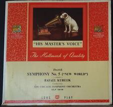 HMV ALP 1018 ED1 UK DVORAK SYMPHONY NO. 5 NEW WORLD KUBELIK CHICAGO SYMPHONY LP