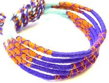 Lot 5 Bracelets Bresiliens de l'Amitié Macramé coton Friendship bleu marron