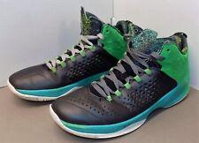 Nike Air Jordan Melo M11 Haut Basketball Chaussures 716227-008 M 12 Noir/Vert