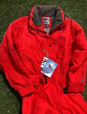 Vintage Fila Women Ski Snowboard Suit Size 10 Red Nwt New 90s