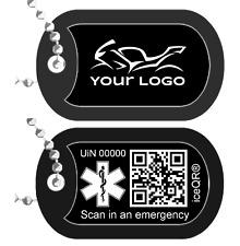 Personalizado Láser Grabado Militar Ejército/Etiqueta De Perro Etiqueta de perro con iceqr ® en reverso