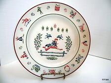 Johnson Brothers Twelve Days of Christmas SALAD PLATE - 10 LORDS A'LEAPING