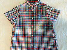 H & M CHECK SHORT SLEEVE BUTTON FRONT SHIRT YOUTH SIZE 7-8