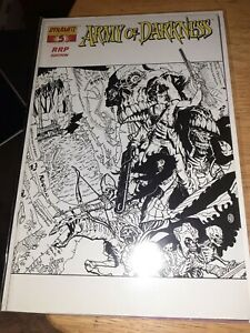 ARMY OF DARKNESS 5 WHITE PGS RRP VARIANT SKETCH COVER DYNAMITE COMICS