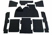 1973-1977 VW Super Beetle Sedan Deluxe Carpet Kit 9pcs, (w/Footrest) Black