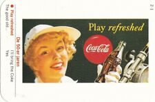 """DRINK COCA-COLA -  """" play  refreshed """" - DUTCH card DEPICTING the 1950s"""