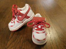 Nike Red White Pink Stripe Peppermint Candy Cane Retro Sneakers Toddler sz 3