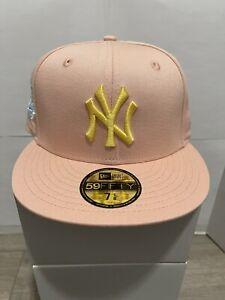 Hat Club Exc Blush Sugar New York Yankees 1999 World Series Apricot SIZE 7 1/8