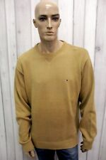 TOMMY HILFIGER Uomo Taglia XL Maglione Cotone Sweater Pullover Maglietta Pull