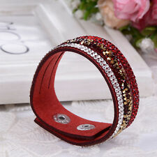 Fashion Men Women Handmade PU Leather Rope Bracelet Braided Bangle Wristband