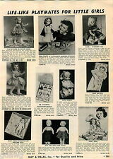 1956 ADVERTISEMENT Doll Miss Curity Walker Toni Posie Saucy Betsy Wetsy Patti