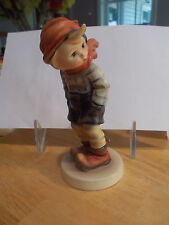 """March Winds"" Hummel Figurine #43 TMK3 From 1990 Boy On Windy Day  / Lot HM#8"