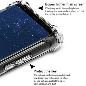 Shockproof Clear Slim Soft TPU Back Case Cover For Samsung GalaxyA50 A40 A30 A20