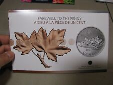 Lot of 2 x Canada 2012 $20 for $20 Fine Silver Coin - Farewell to the penny