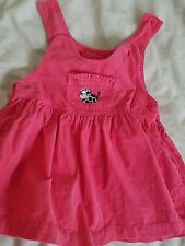 3-6 months girl pink corduroy spring winter dress dungaree from adams