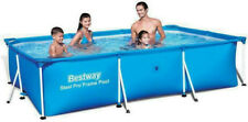 BESTWAY 56404 PRO-STEEL FRAME GARDEN SWIMMING-POOL STEEL 10ft / 300x201x66cm NEW